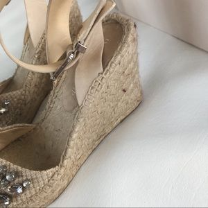 7d46de990 Ivanka Trump Shoes - IVANKA TRUMP Dona Jewel Wedge Espadrilles Size 8