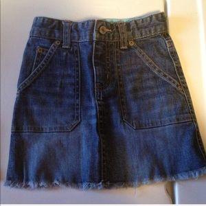 🌀Girls gap kids stretch size 4 jean skirt