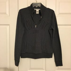 Gray Victoria's Secret Zip Up Sweatshirt