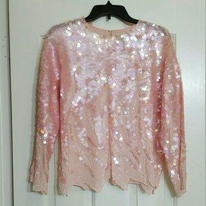Vintage sequin top / blouse