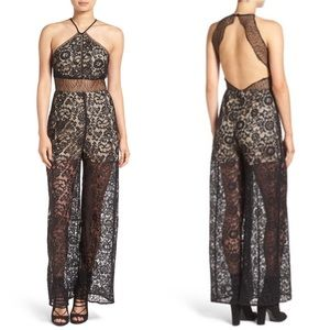 NWT Kendall & Kylie Lace Open Back Jumpsuit