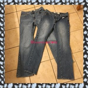 TWO pairs of GAP bootcut stretch jeans size 8