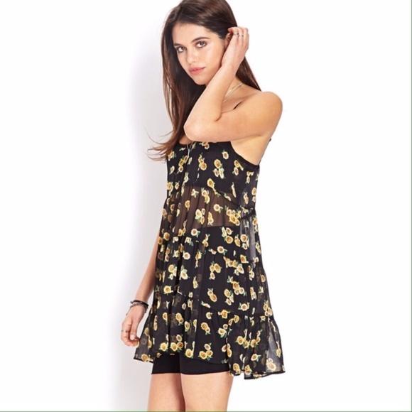 957d065dd15 Forever 21 Dresses   Skirts - Forever 21 Sunflower Daze Smock Dress