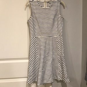 J. Crew striped fit and flare dress