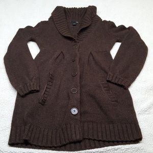 H&M brown knit sweater size Small