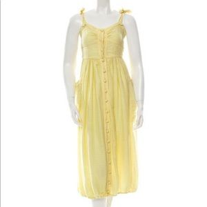 Soft yellow Zac Posen dress size 6