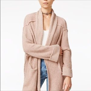 Free People low tide cardigan size XS / S in rose