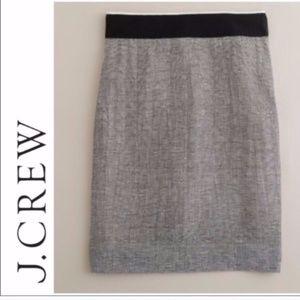 [SALE] J. Crew Ripple Stripe Skirt Grey Black 8