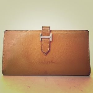 SALE✨HERMÈS Bearn Gusset soft leather wallet