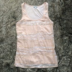 Express Blush Sequined Tank Top