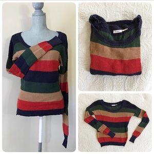 Blu Pepper striped knit sweater, M
