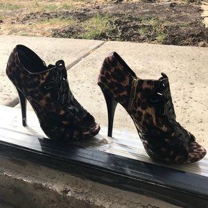 Anne Michelle // Cheetah Print Heels