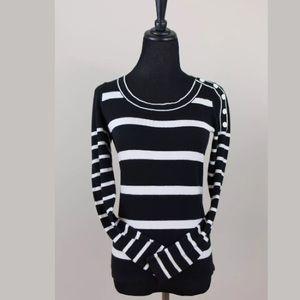 Ann Taylor LOFT Black & White Striped Sweater