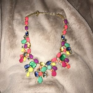 Jcrew color mix statement necklace