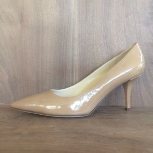 Kate Spade sz 10.5 B Licorice Pumps Nude Patent