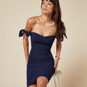 Reformation Tie Off Shoulder Dress