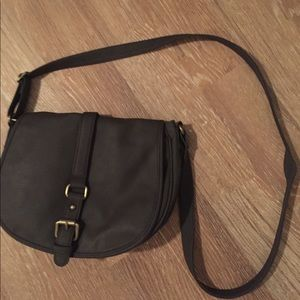 Gray crossbody... excellent like new condition