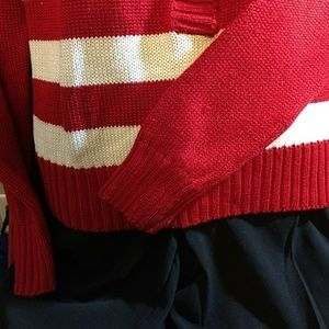 FCLtd Shirts & Tops - Red White Sweater