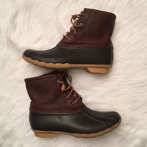 Sperry Top-Spider Saltwater Duck Boots WOMENS 9.5
