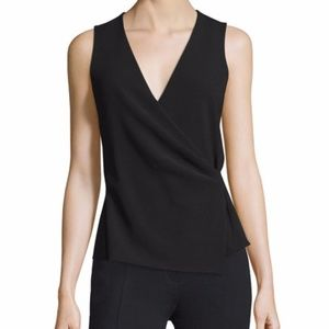 Theory Karlista Black Crepe Top