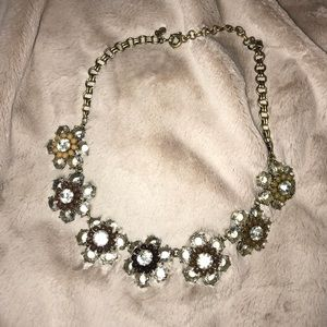 Jcrew crystal floral necklace