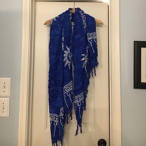 Other - Royal blue bohemian wrap