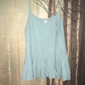 Old Navy Light Blue Ruffle Tank