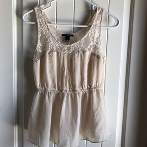 Forever 21 Lace Sheer Tank Top Blouse
