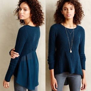 Anthropologie Senni Pullover Knitted & Knotted