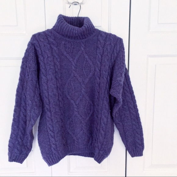 70% off Vintage Sweaters - Vintage Irish Wool Purple Sweater from ...