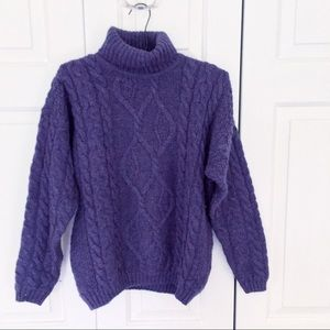Vintage Irish Wool Purple Sweater
