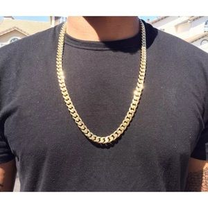 Other - Cuban Link Gold Chain 14K Stamped Diamond Cut 30""