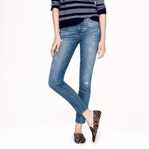 J.Crew Distressed Cone Denim Toothpick Jean