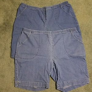 2 pairs one price womens 2x jean shorts