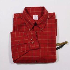 Brooks Brothers Red Plaid Fall Shirt XL XXL NWT