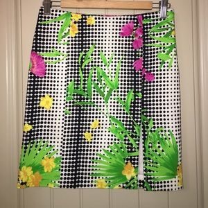 VERSACE Jeans Couture Floral modern skirt sz 40
