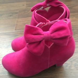 Girls pink Jelly Beans boots