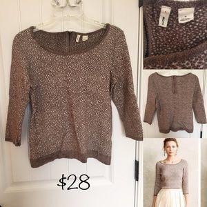 Moth Brand Sweater Blouse - very nice
