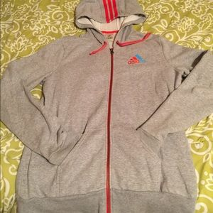 Hooded Adidas full zip up