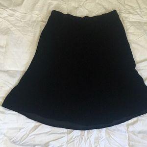 GAP 90's Black Velvet Mini Skirt