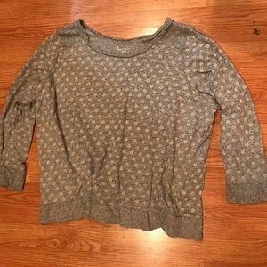 Lane Bryant Grey polka dot sweater 26/28