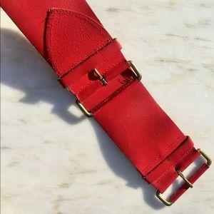 Wide Red Belt