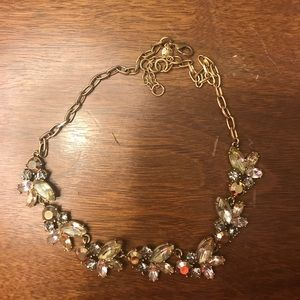 J.crew simple flower statement necklace