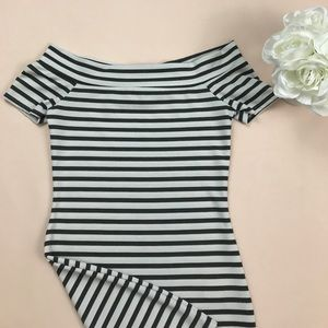 Zara bodycon striped dress small