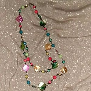 Beautiful colored necklace