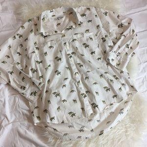 Madewell shrunken trapeze shirt