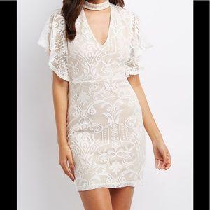 Lace Choker Neck Dress