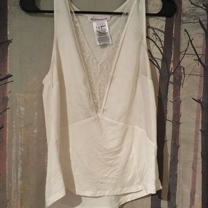 BCBGeneration Lacy White Tank