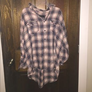 Loose flannel