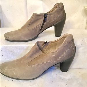 Ecco gray leather 👠 heels. Size 8.5